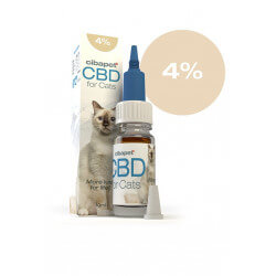 Huile CBD 4 % pour chats